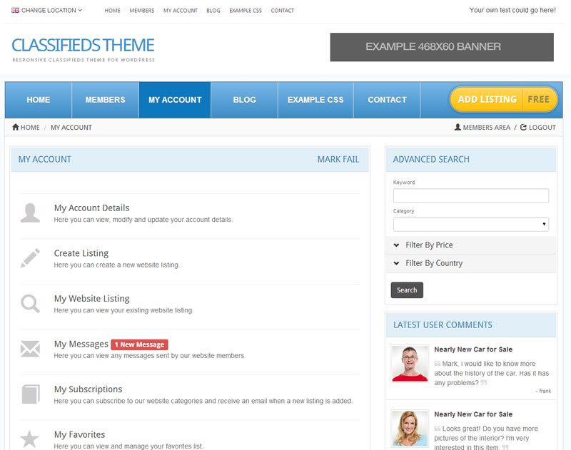 Members Area and Management Tools