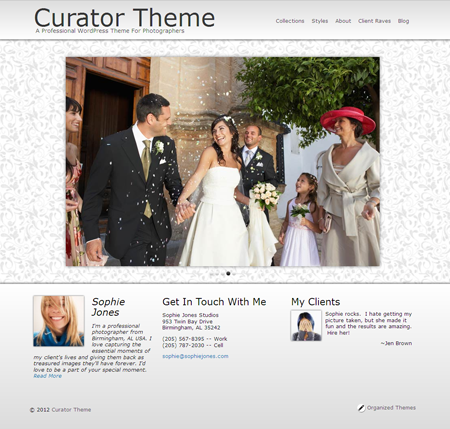 Curator WordPress Theme for Photographers, Urban, Weddings