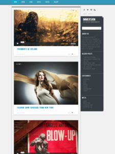 Immersion WordPress Responsive Multimedia Theme for Video, Images, Galleries & Audio