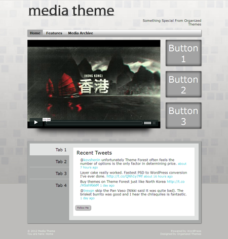 Media WordPress Video Theme
