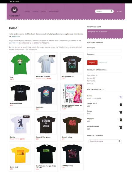 Merchant Commerce WordPress e-Commerce Theme