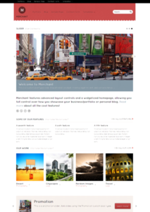 Merchant WordPress Responsive Portfolio Theme for Business or Personal Bloggers