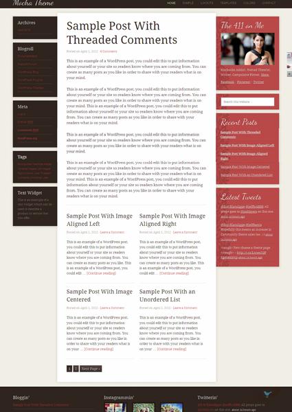 Mocha 2.0 WordPress Child Theme for Fashion, Music & Mobile Responsive Design