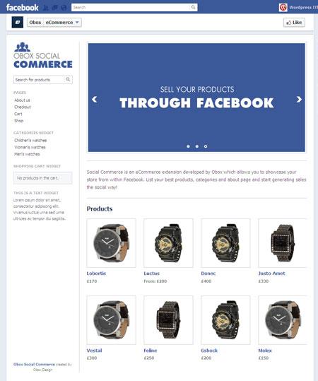 Obox Social Commerce Plugin | WordPress Facebook eCommerce Plugin for WooCommerce