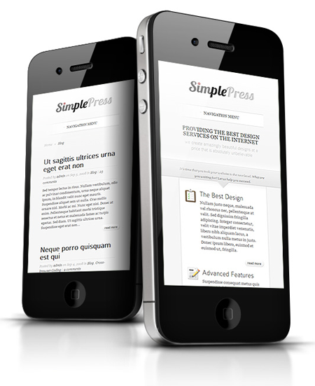 SimplePress WordPress Responsive Theme for Web Design Company Portfolios