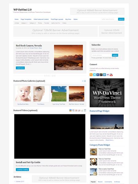 WP-DaVinci 2.0 WordPress Responsive Magazine Theme
