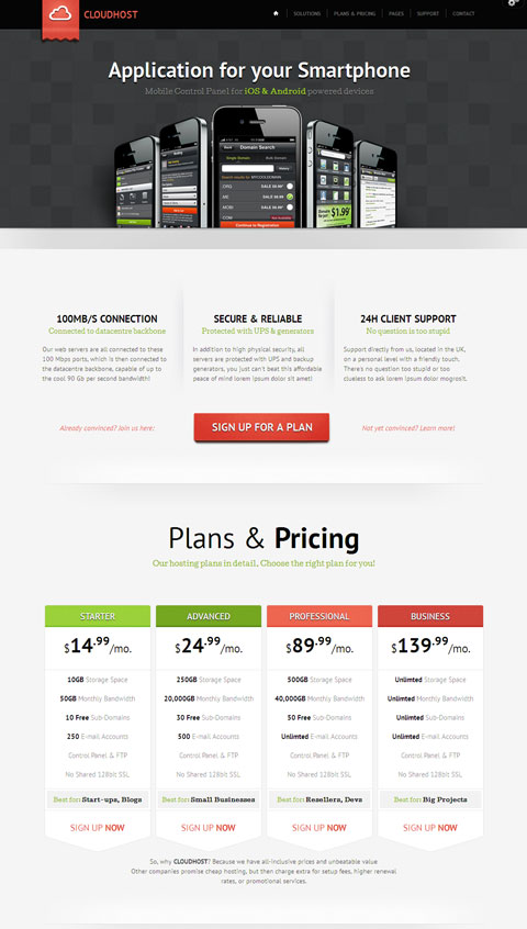 CloudHost WordPress Web Hosting Theme