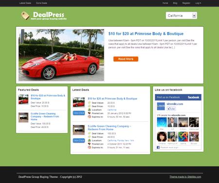 DealPress Local Deals WordPress Theme for Restaurant, Hotels, Bar