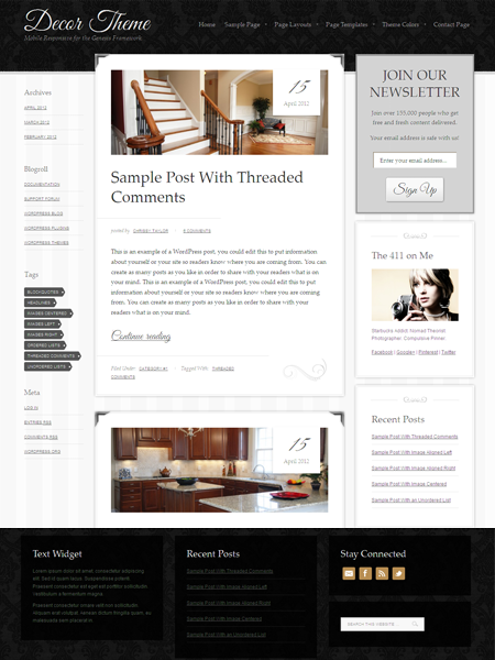 Décor WordPress Mobile Responsive Theme for Interior Decoration