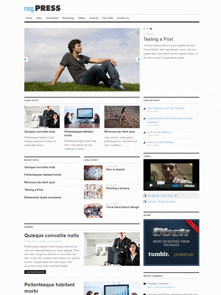 Mag.Press Mobile Responsive WordPress Magazine & eCommerce Theme