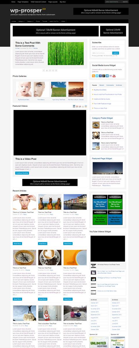 WP Prosper 2.0 Magazine Style Theme