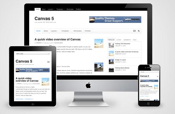 Canvas v5 WordPress Theme for Responsive Magazine, Business Portfolios