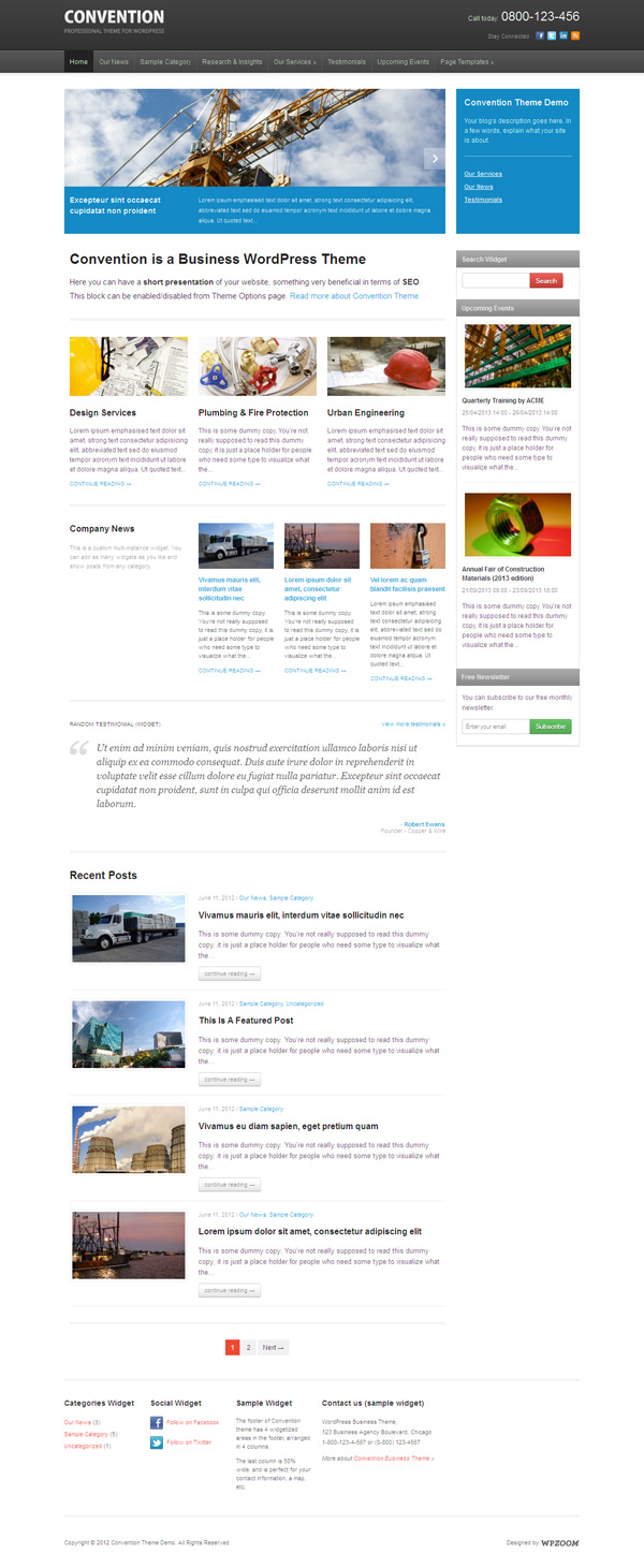 Convention WP Business Magazine Theme