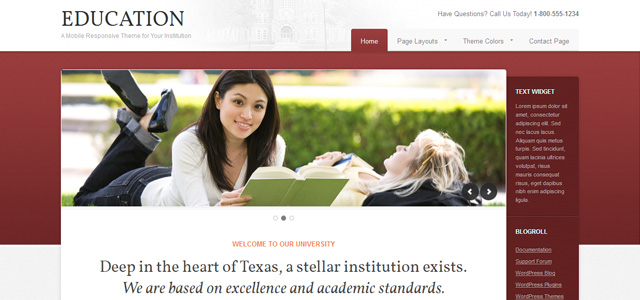 Education 2.0: A Mobile Responsive WordPress Theme for Institutions