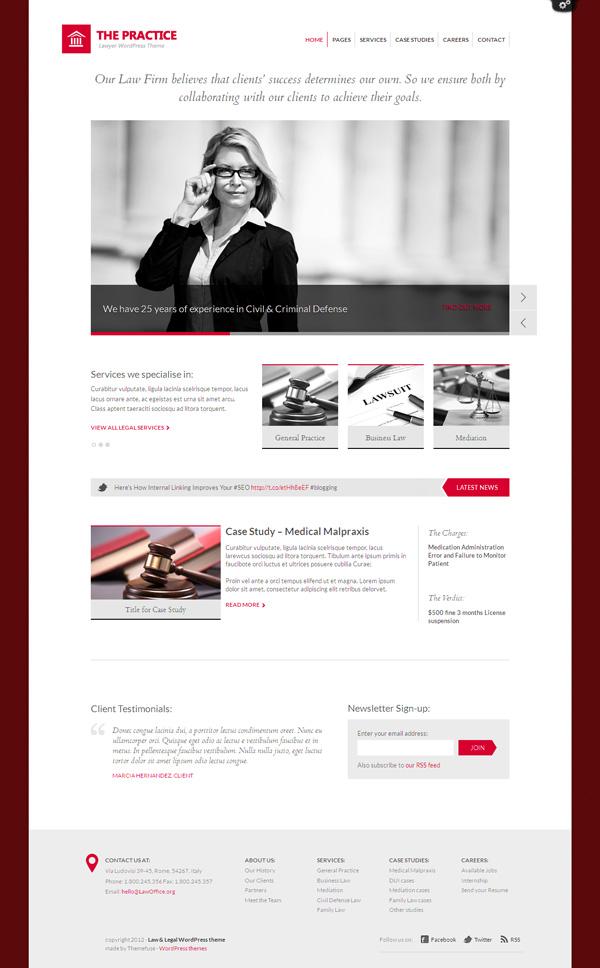 The Practice WordPress Lawyer Theme