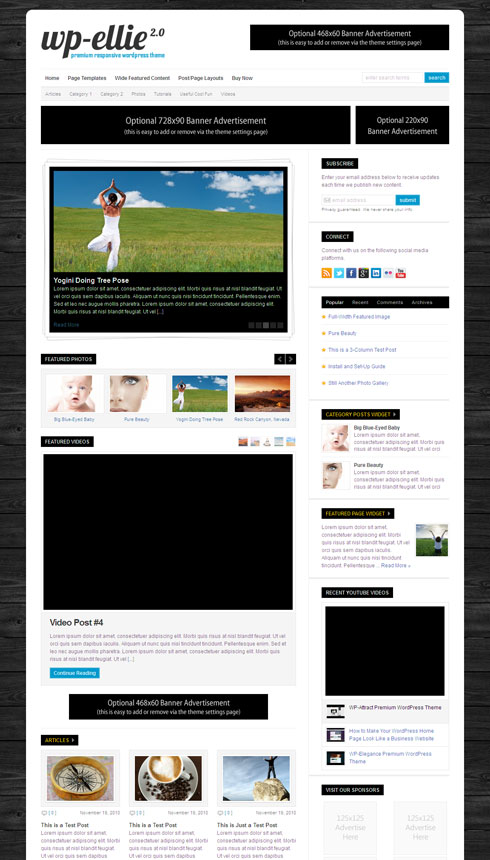 WP-Ellie 2.0 Responsive WordPress Magazine Theme