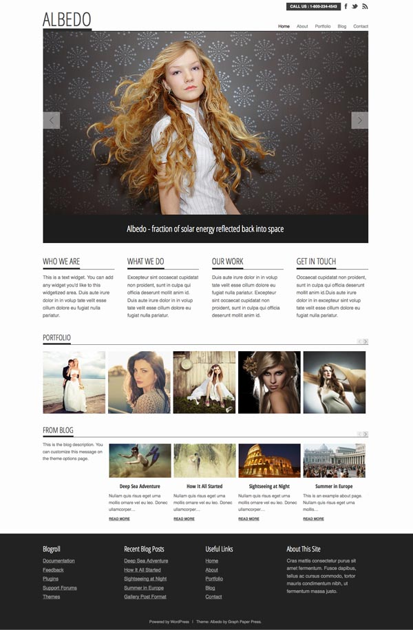 Albedo WordPress Magazine Style Theme