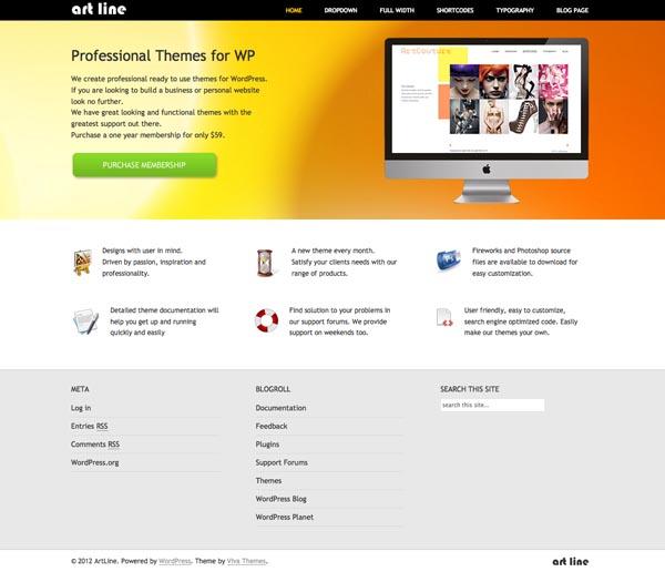 ArtLine WordPress Apps Theme