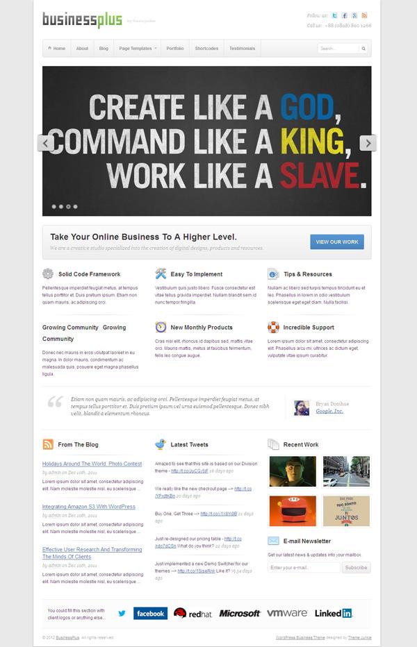 BusinessPlus WordPress Creative Agency Theme