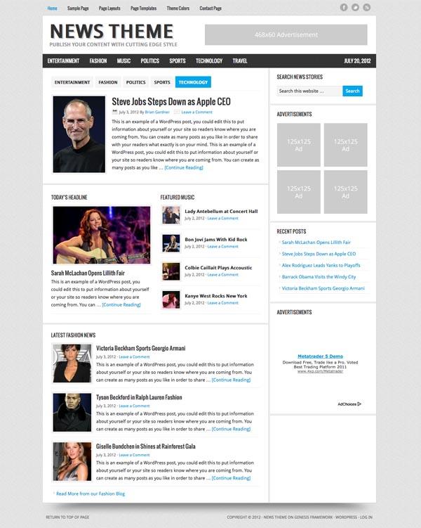 News 2.1 Child WordPress Theme