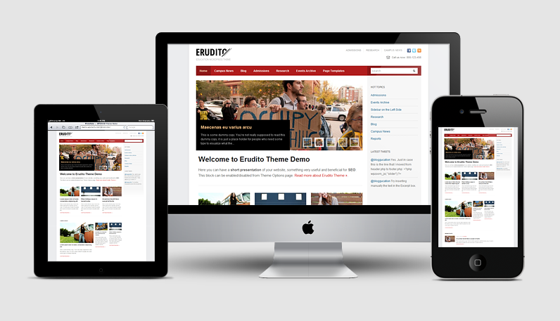 Erudito Responsive WordPress Education Theme for Schools, Colleges, Universities