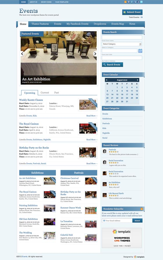 Events V2 WordPress Theme