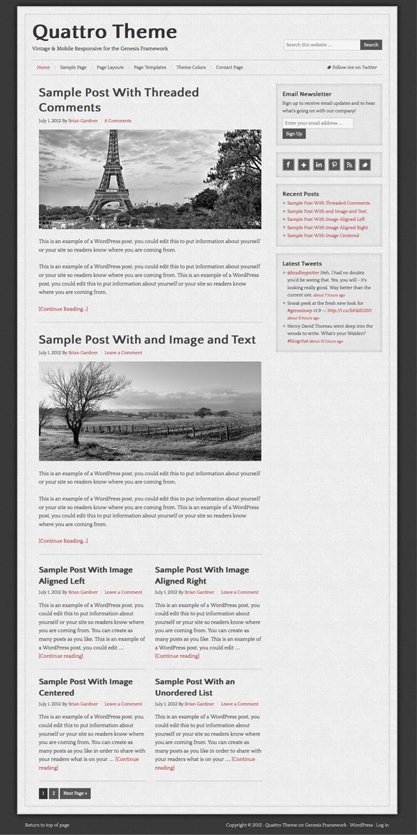 Quattro Mobile Responsive WordPress Theme