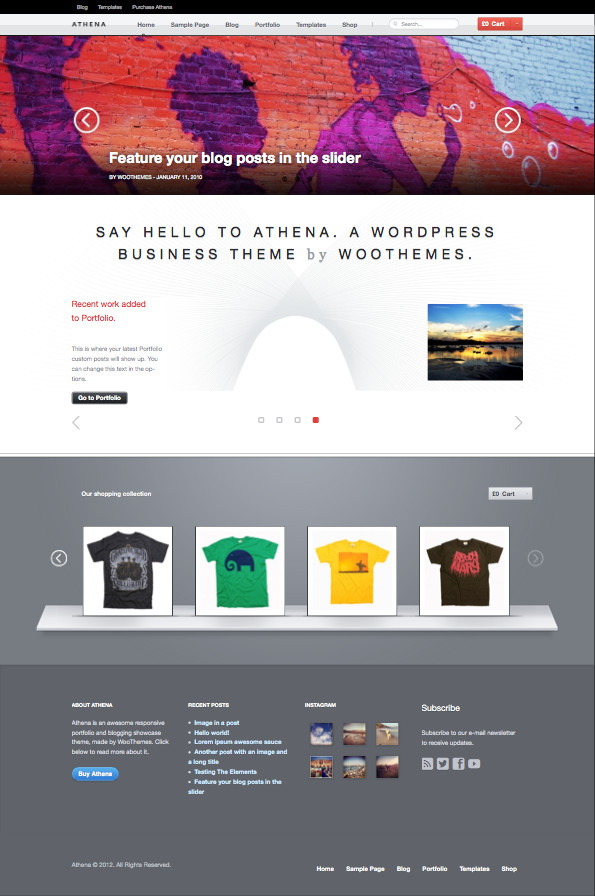 Athena WordPress Business Portfolio Theme