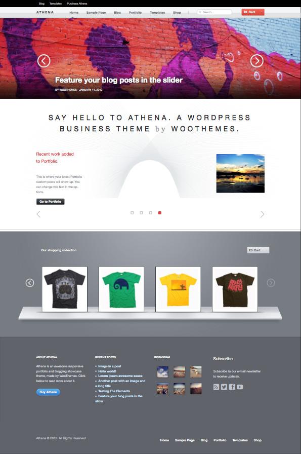 Athena WordPress Business Portfolio Theme