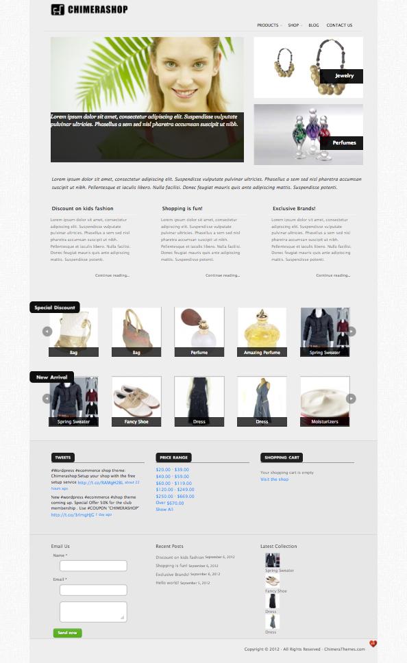 ChimeraShop WordPress eCommerce Theme