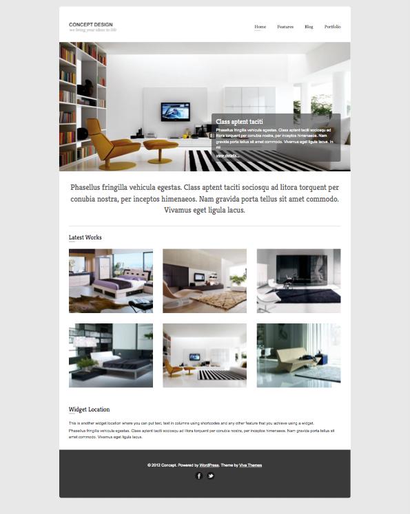 Concept Responsive WordPress Portfolio Theme
