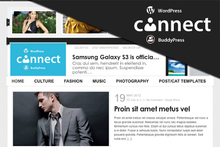 Connect Responsive WordPress BuddyPress Theme