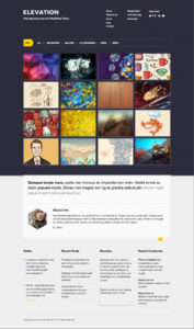 Elevation WordPress Theme for Portfolio & Tumblog [Mobile Ready]