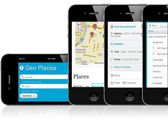 GeoPlaces v4 Responsive WordPress Theme