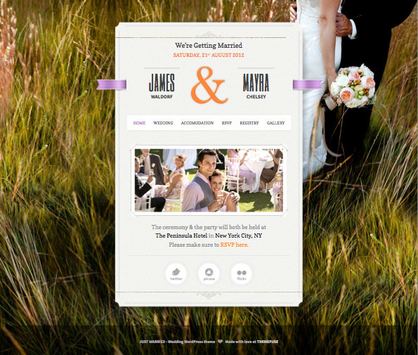 Just Married Responsive WordPress Theme