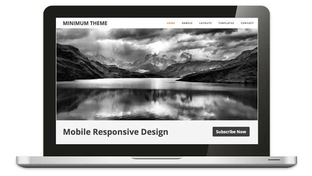 Minimum 2.0 Mobile WordPress Portfolio Theme