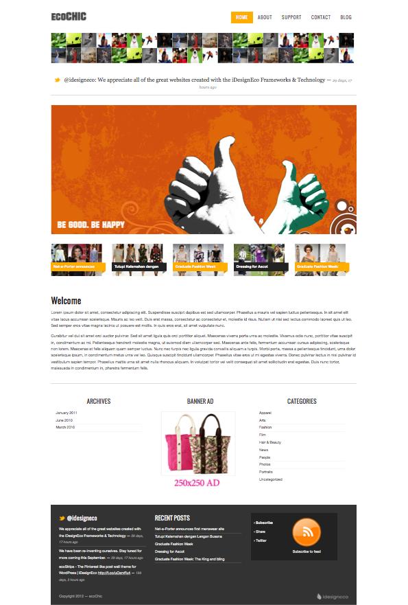 ecoChic WordPress Thumbnails Gallery Theme