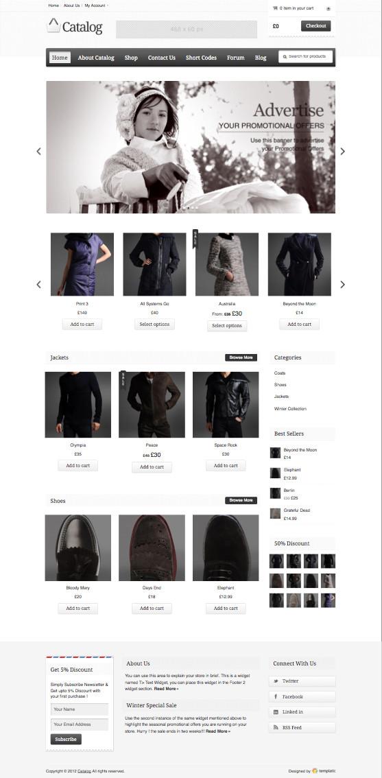Catalog WordPress eCommerce Theme