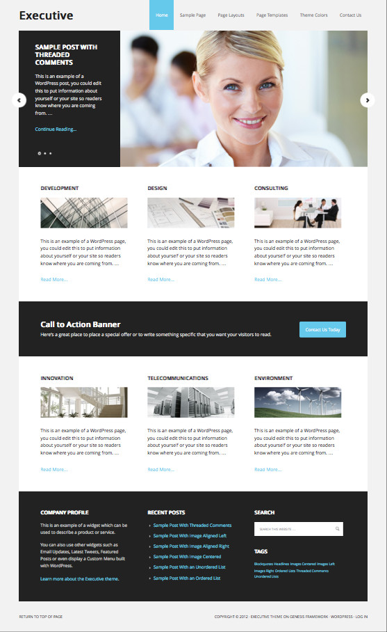 Executive WordPress Corporate Theme