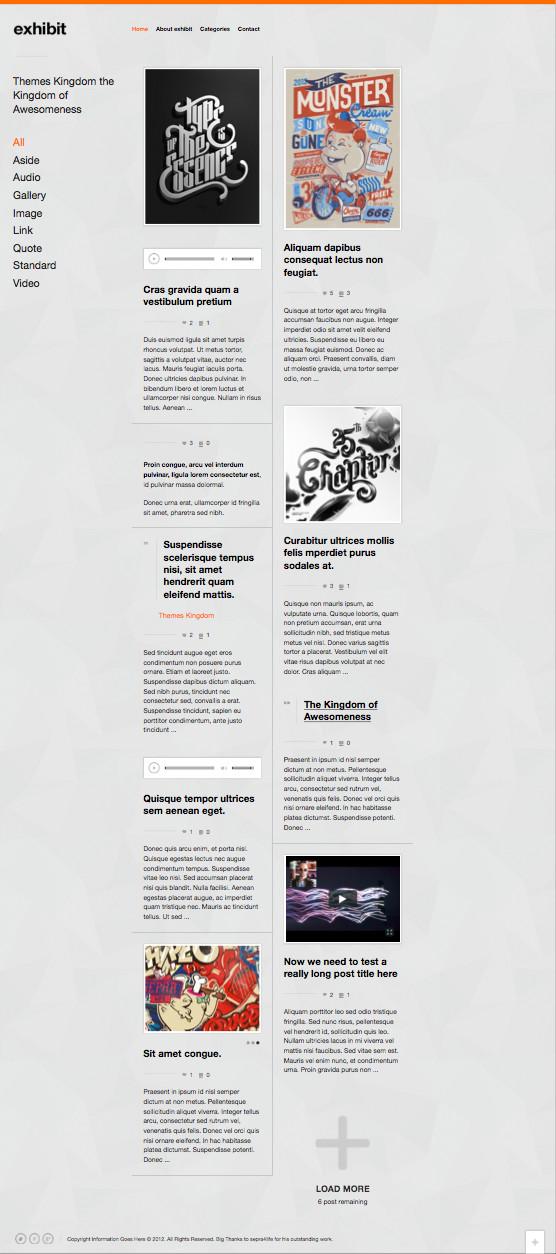 Exhibit Responsive WordPress Multimedia Theme