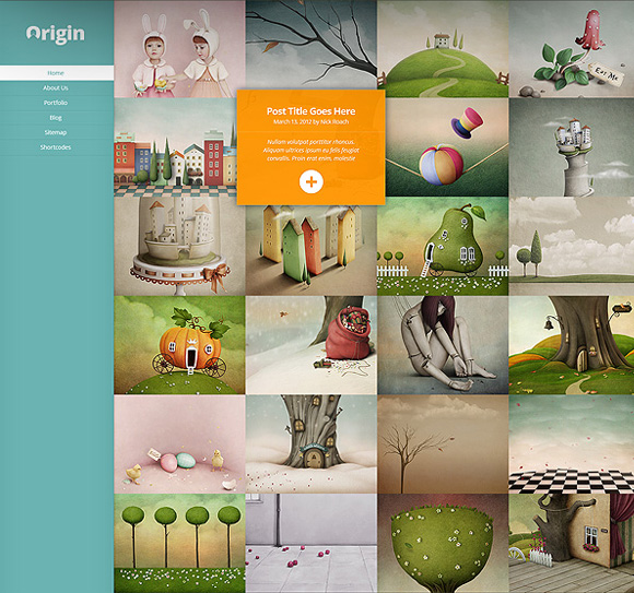 Origin Responsive WordPress Grid Based Theme