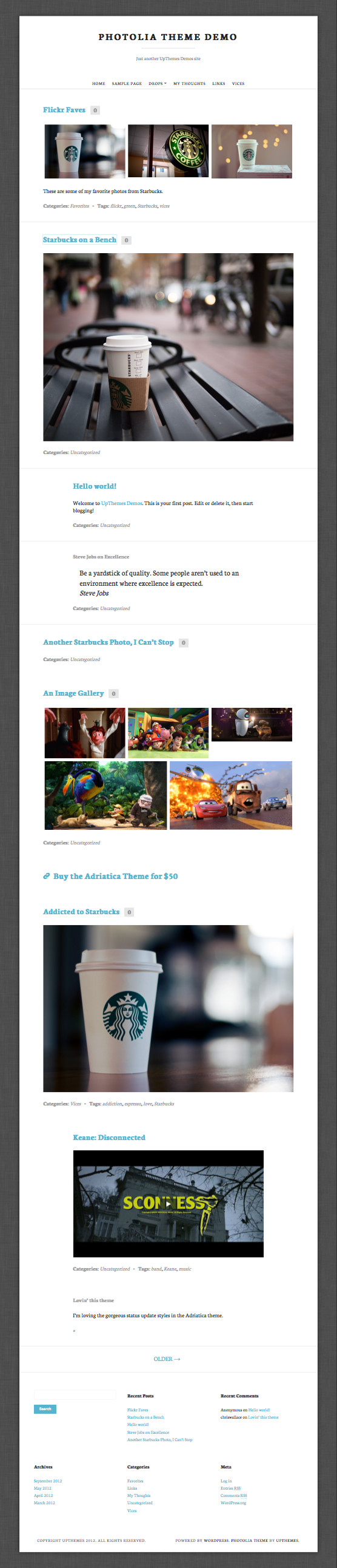 Photolia WordPress Photo Blogging Theme