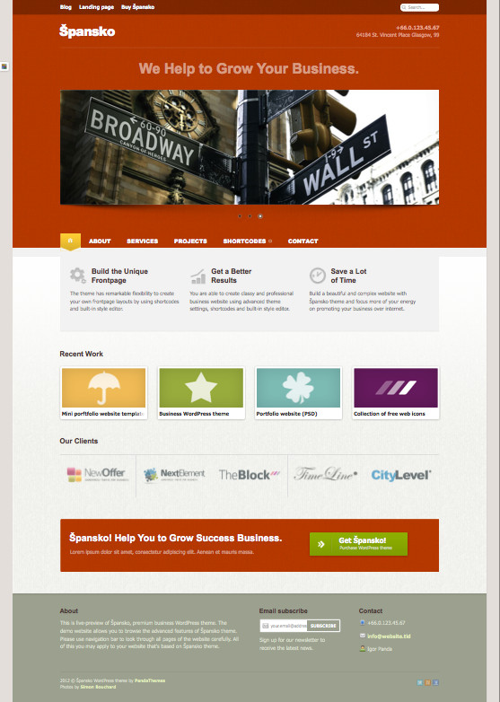 Spansko WordPress Corporate Service Theme