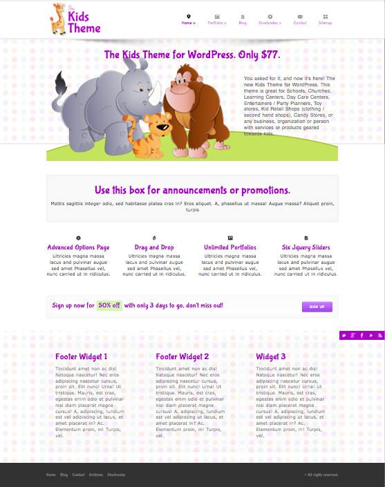 The Kids WordPress School Theme