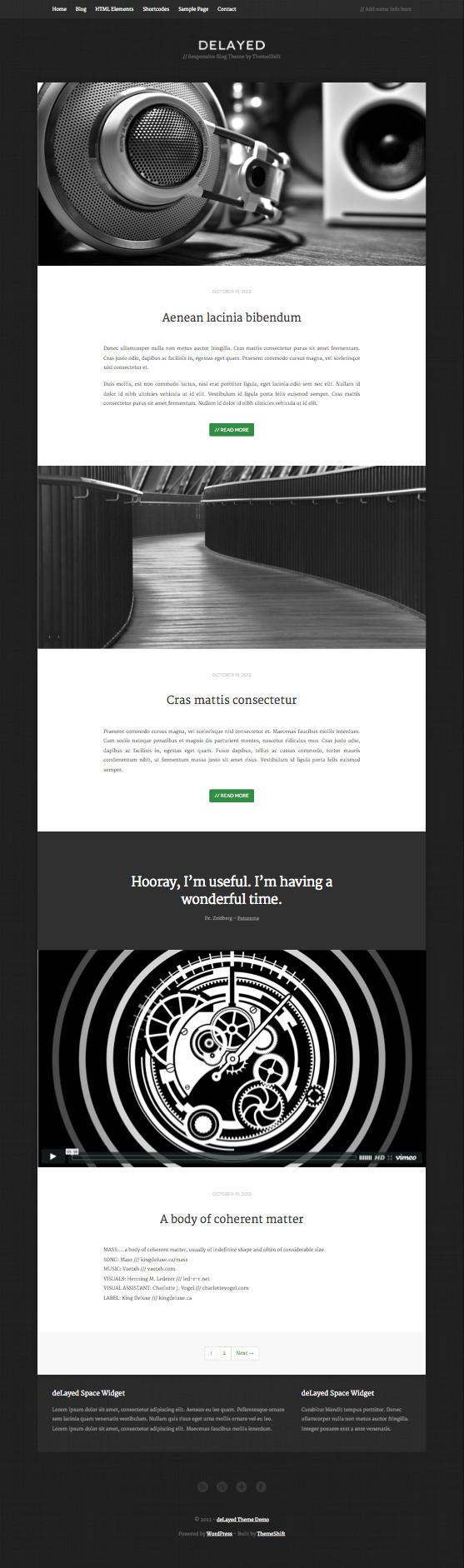 deLayed WordPress Minimal Theme
