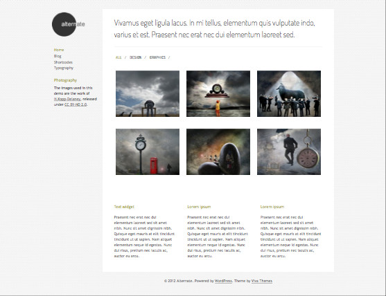 Alternate Responsive WP Minimal Portfolio Theme