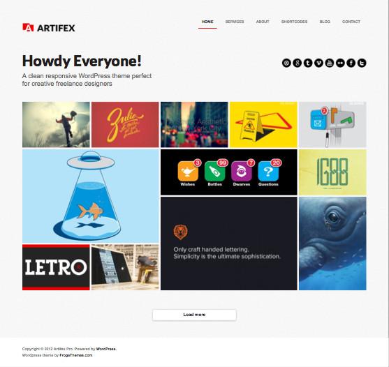 Artifex Pro WordPress Freelancers Portfolio Theme