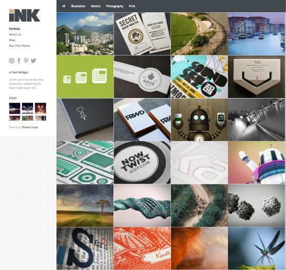 Ink WordPress Portfolio Theme
