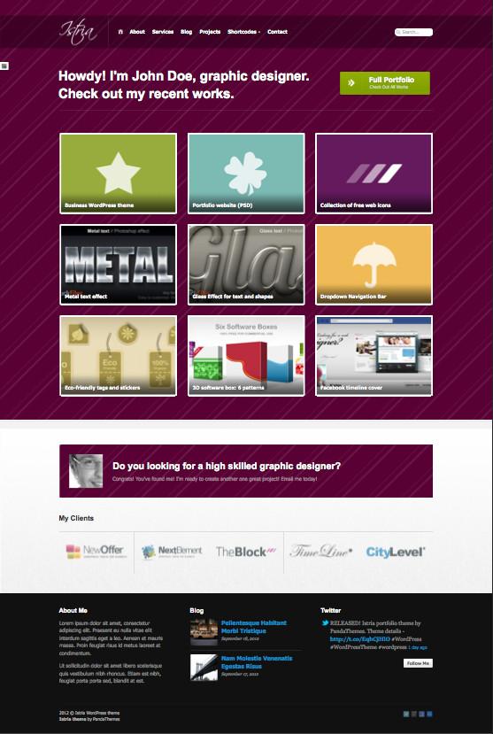 Istria WordPress Minimalistic Portfolio Theme