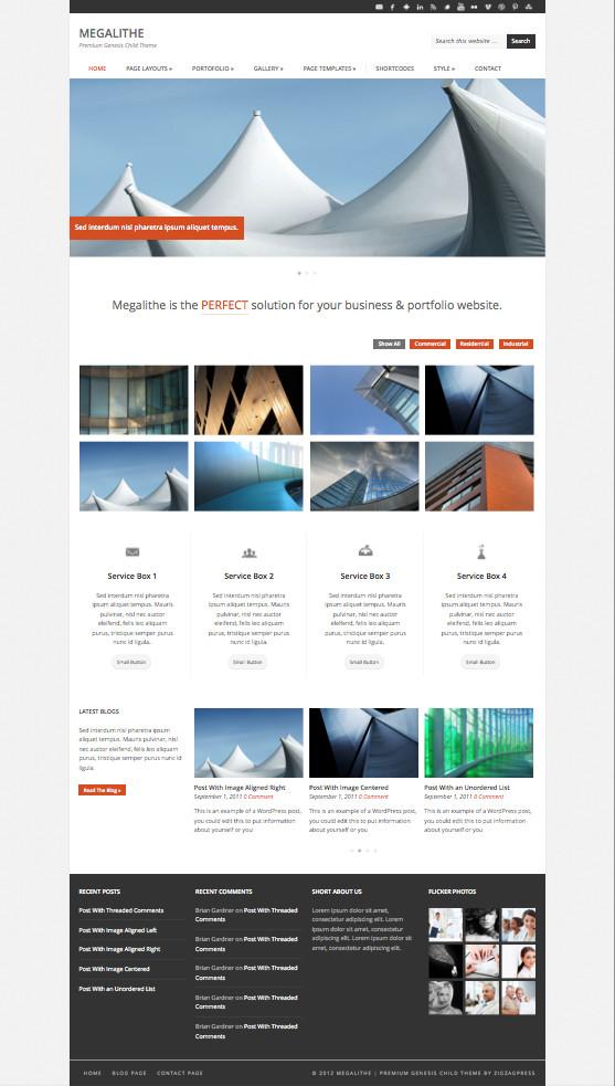 Megalithe Responsive Business Portfolio Theme